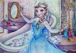 Elsa before the Grand Ball