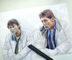 Sam and Dean Winchesters sketch