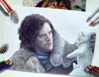 Jon Snow  (WIP) by Alena-Koshkar