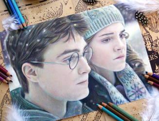 Harry and Hermione by Alena-Koshkar