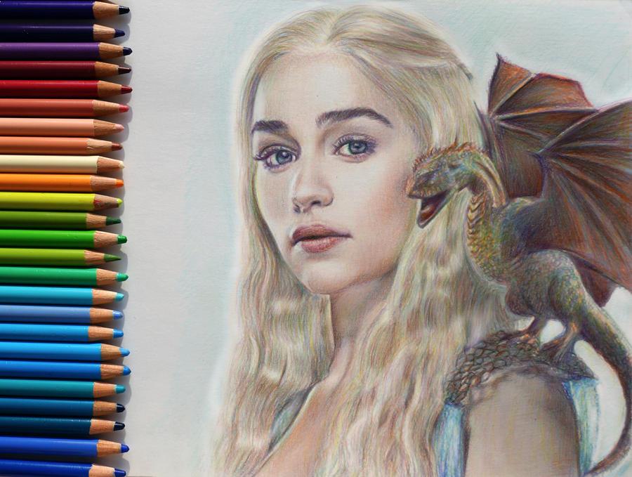 Daenerys Targaryen Game Of Thrones By Alena Koshkar On