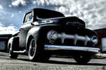 1951 Ford F1 Pickup Truck - clouds