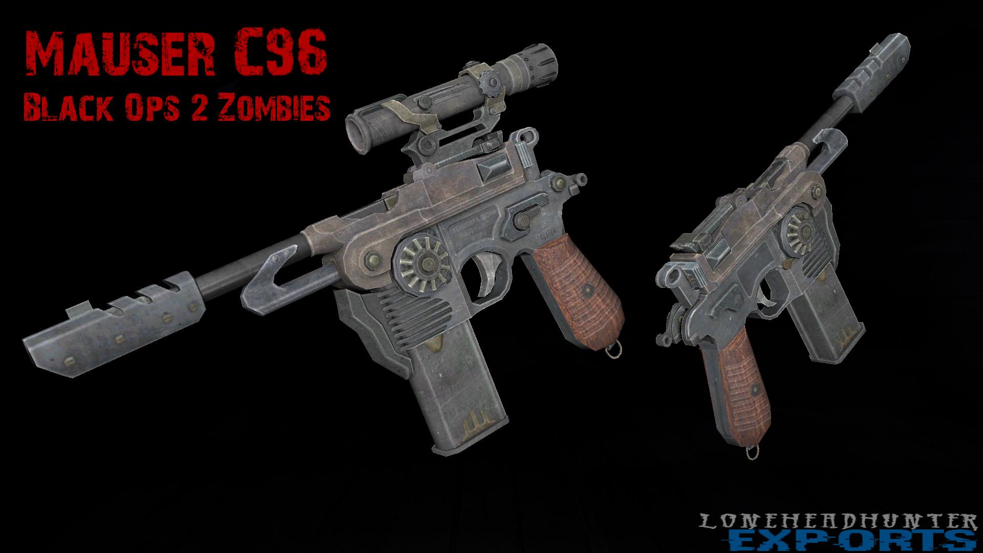 Black Ops 2 ZM - Mauser C96 by Jacob-LHh3 on DeviantArt