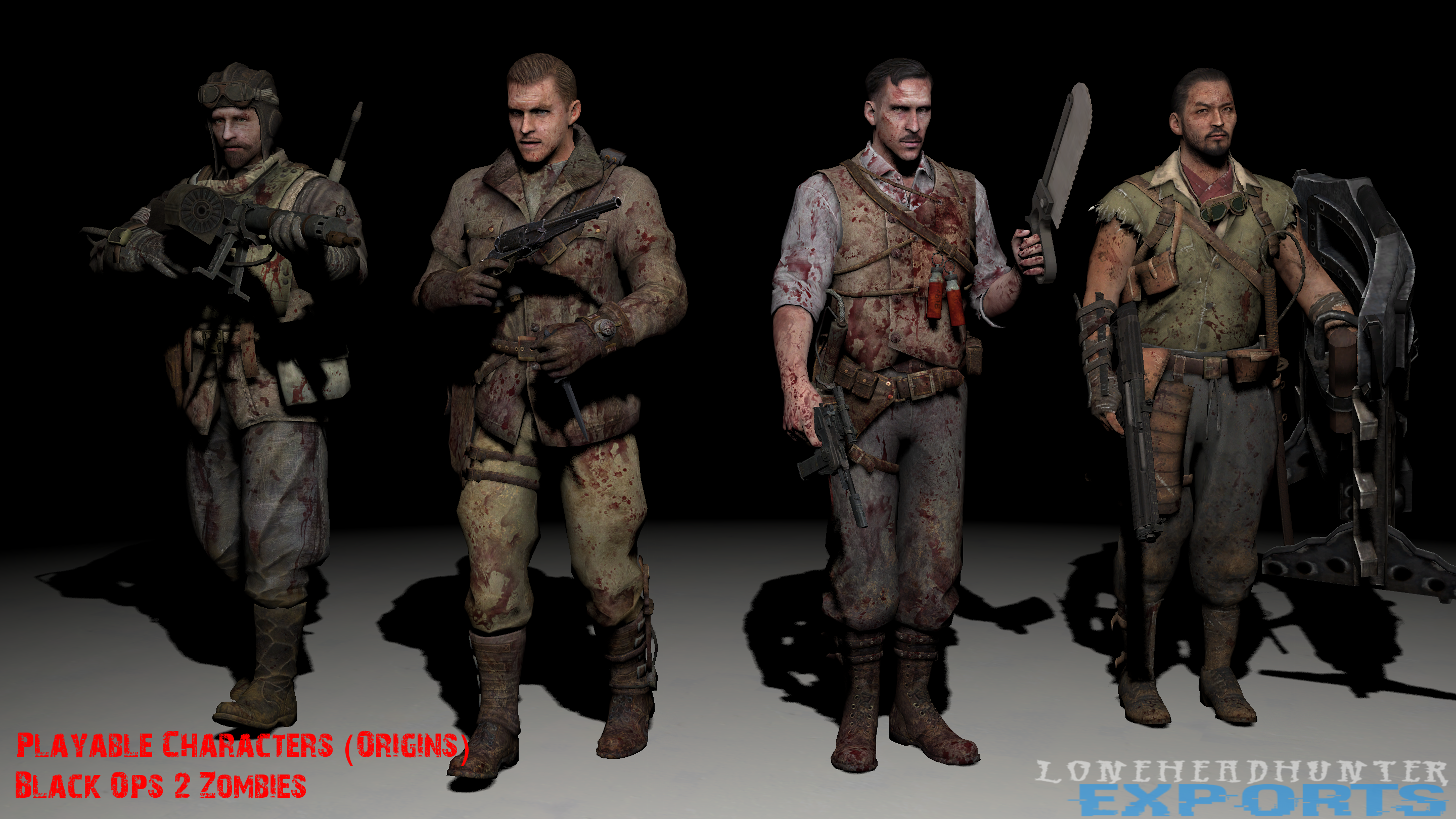 Black Ops 2 Zm Origins Characters By Jacob Lhh3 On Deviantart