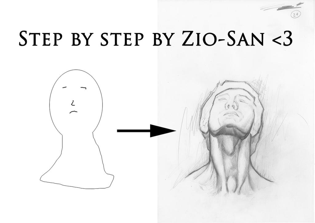 Step by Step drawing by zio-san