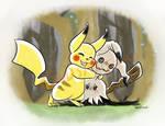 -Pokemon- -Pikachu and Mimikkyu- Reassurance