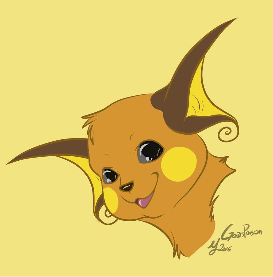 Raichu Pokemon Art Red Images