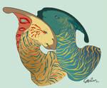 -Dinovember2016- Parasaurolophus by Godspoison