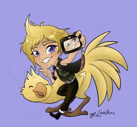 -Final Fantasy 15- Prompto Selfie by Godspoison