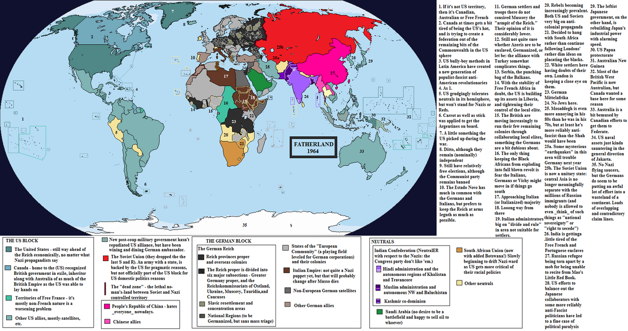New Fatherland Map By QuantumBranching On DeviantArt - Map of us allies and enemies