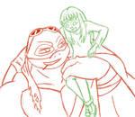 Raphael and kid April