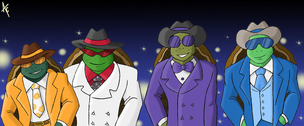 Fashionable turtles by AliceCherie
