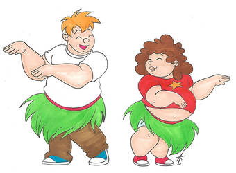 Mikey and Kurst hula-dance by AliceCherie