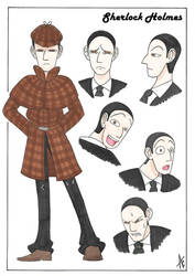 Sherlock Holmes character design by AliceCherie