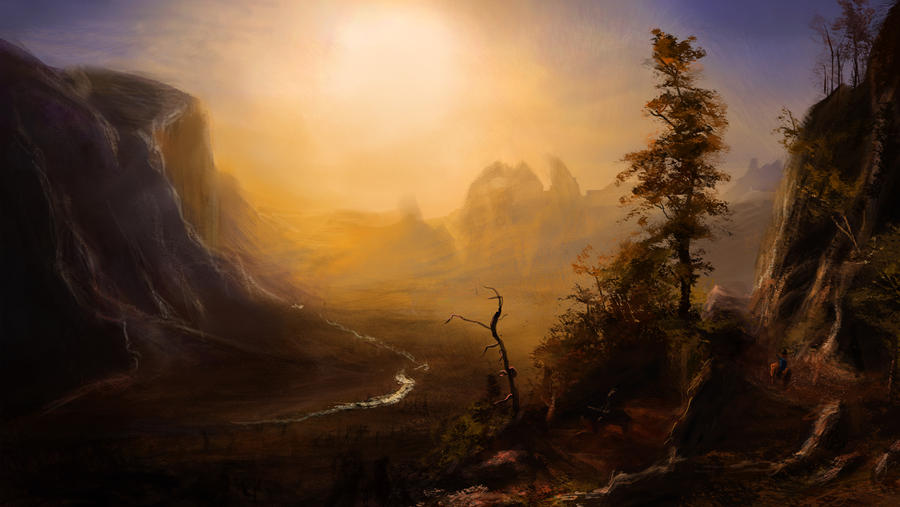 Master Study: Yosemite Valley, Glacier Point by Illustrum