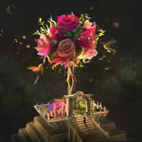 Flower Fairy Temple by Illustrum