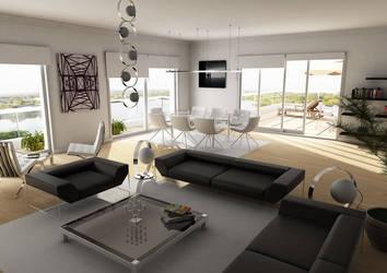penthouse living room by sedatdurucan