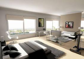 penthouse bedroom by sedatdurucan