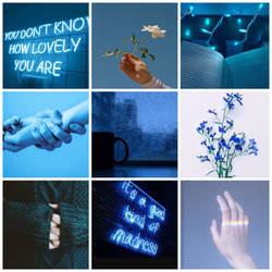 Blue mood board  by broken-light-bulbs