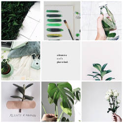 Green and white mood board  by broken-light-bulbs