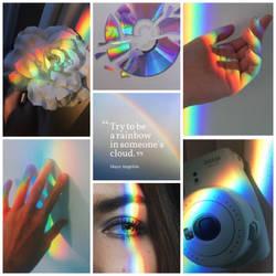 Rainbow mood board by broken-light-bulbs