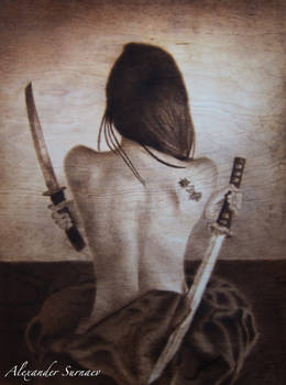 A girl with daggers