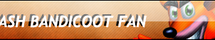 Crash Bandicoot Fan button by ShadamyFan4everS
