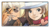 Kyouya x Minuki / Klavier x Trucy stamp by ShadamyFan4everS