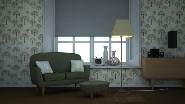 Vintage Monty sofa Scene