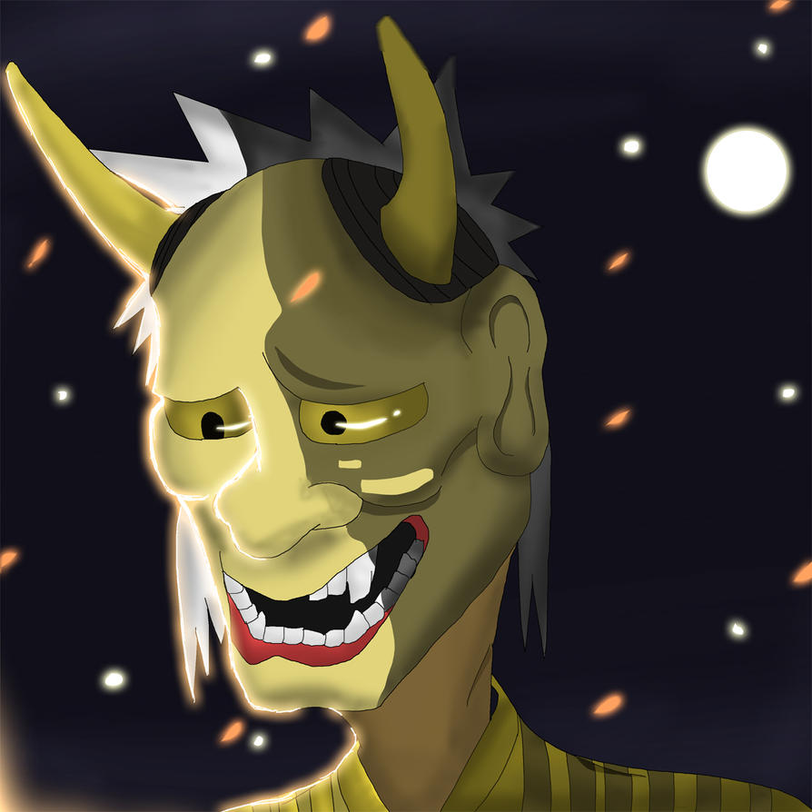 Hannya mask by Art-Junkei