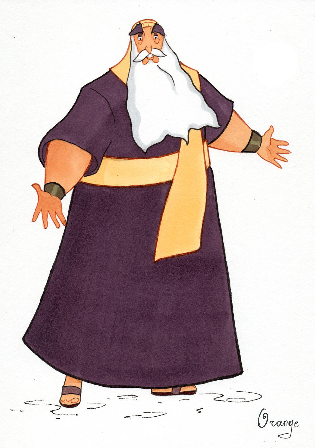 Jethro from the Prince of Egypt by PlumpOrange