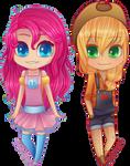 MLP:FIM chibi set [2/3] Pinkie Pie|Applejack