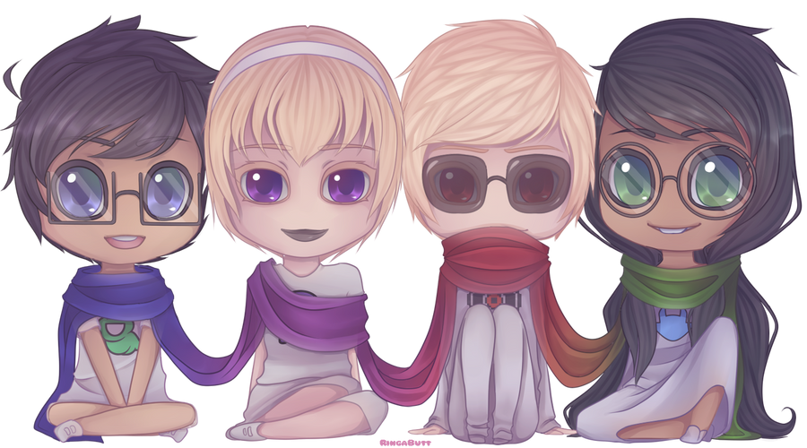 Beta chibis by RingaButt