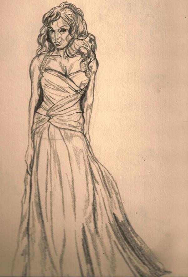 Wedding Dress 2 by baypaintlover