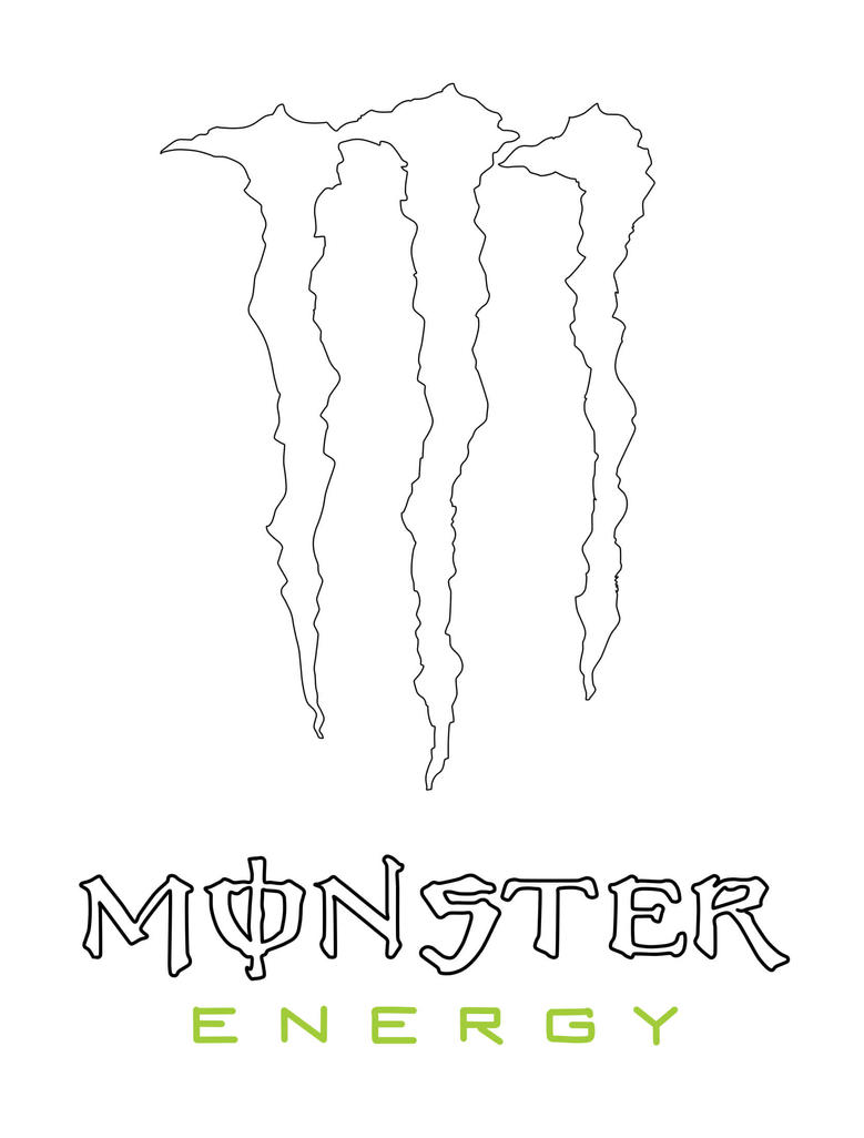 monster energy sign coloring pages - photo#2