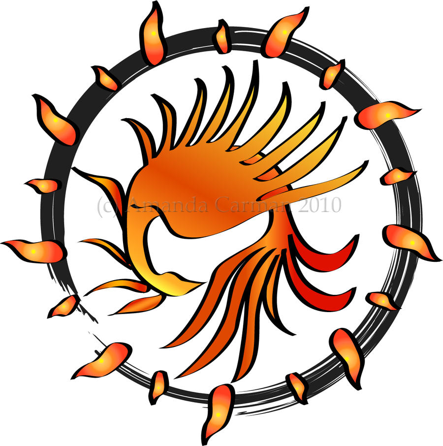 Phoenix Sun Symbol by GuacamoleOg
