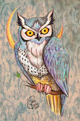 That Blue Owl by Gaaaib