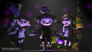 Three squiddles by yoshiandriolu