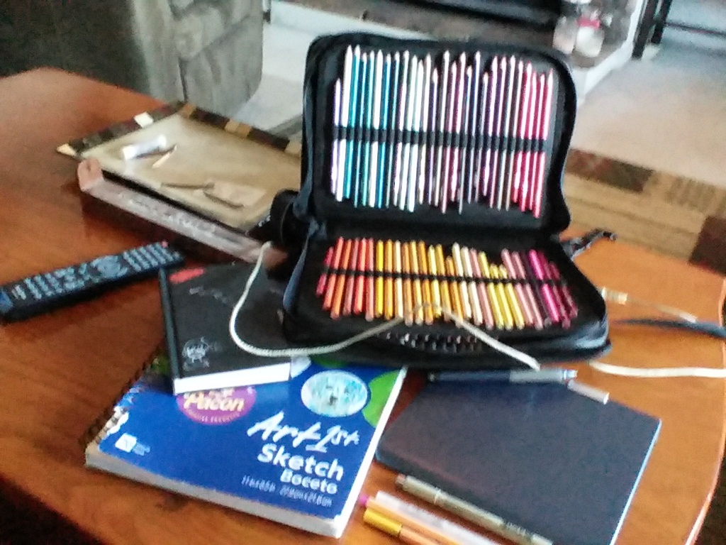 If you were wondering what art supplies I use.. by NorwegianFuckBoii