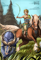 Cattle Herding - TLOZ Twilight princess by V21e