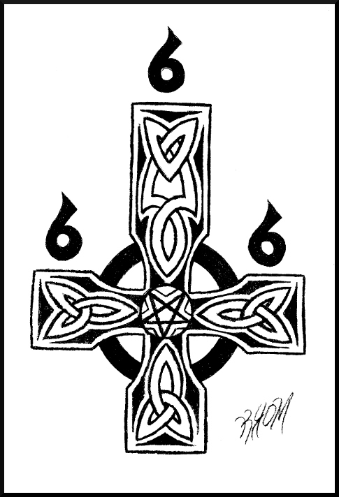 Satanic Celtic Cross By Tehmafrath On Deviantart