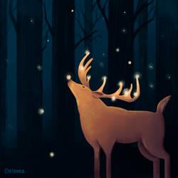 Fireflies Deer