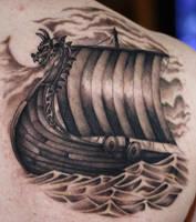 Viking ship by 6rimR3ap3r