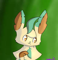 Leafeon Icon (Free to Use with credit) by ImaFishtick