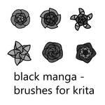 Black Manga - Brushes for Krita