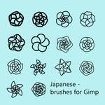 Japanese -  Brushes for Gimp by VilmaMonster