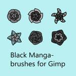 Black Manga - brushes for Gimp by VilmaMonster