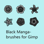 Black Manga - brushes for Gimp