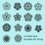 Crochet Lace - Brushes for Gimp by VilmaMonster