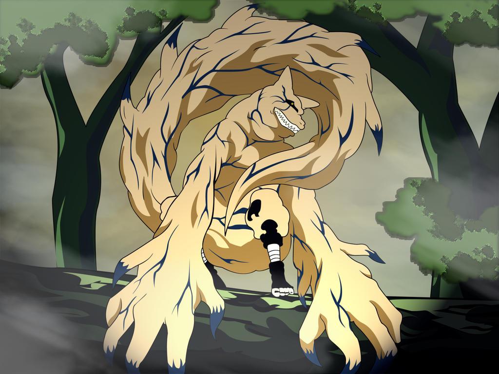 Shukaku Gaara vs Curse Mark [2] Sasuke